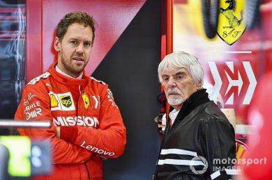 """Ecclestone: """"Vettel, 2020'de üzerinde baskı olmadan yarışacak"""""""