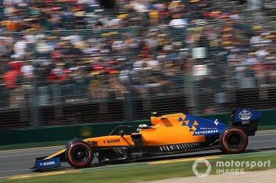 Norris, McLaren'in sıralama turları...
